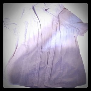 White Blouse Short Sleeved